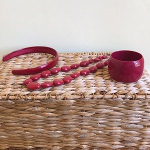 Banana Republic Red Statement Jewelry Collection